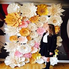 Paper Flower Wedding Backdrops Us 1019 15 15 Off 44pcs Set Handmade Cardboard Giant Paper Flowers Wedding Backdrop Background Decorations Flores Artificiais Para Decora O In Party