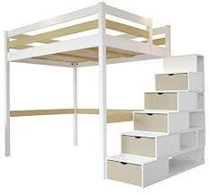 Die treppen können sie auch als aufbewahrung in form von schubladen oder charmantes stockbett aus weißem holz. Hochbett Erwachsene Mit Schrank Hosenauszug Fur Kleiderschrank