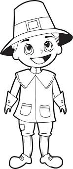 Small Picture FREE Printable Pilgrim Coloring Page For Kids Thanksgiving