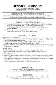Job Skills On Resume Beauteous Job Resume With Work Experience For Administrative Support Intended