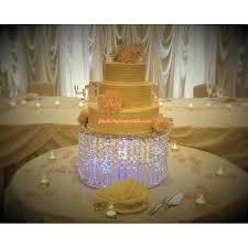 crystal chandelier wedding cake stand stunning lilac damask wedding cake with swaroski