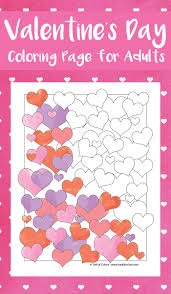 Small Picture Valentines Hearts Coloring Page for Adults Trail Of Colors