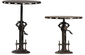 custom made steampunk round bistro table telescoping pedestal