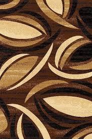 premium 3d hand carved modern 3x5 4x6 rug contemporary 1070 brown beige black