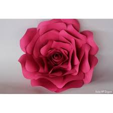 Rose Flower With Paper Giant Paper Flowers