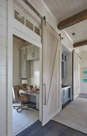 Overlapping Sliding Barn Doors Home Office With Sliding Barn Door Office Inspiration