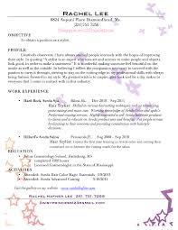 100 Fashion Stylist Resume Objective Day Spa Resume Spa