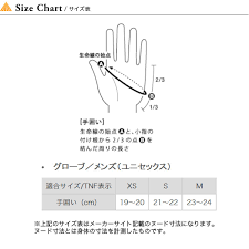 The North Face Glove Size Chart