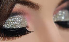 cut crease silver glitter elegant makeup tutorial
