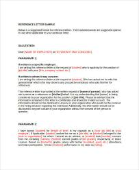 Reference Letter Job 41 Sample Reference Letter Templates Free Premium Templates