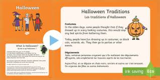 Halloween Powerpoint English French Halloween Pumpkin October