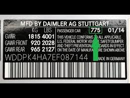 Mercedes Paint Colour Chart How To Find Your Mercedes Paint Code Youtube