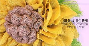 burlap and deco mesh sunflower wreath tutorial yellow burlap green deco mesh