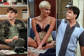 two and a half men cancelled watch the sitcom s greatest moments two and a half men cancelled ashton kutcher miley cyrus charlie sheen