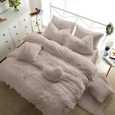 teddy bear fleece duvet cover warm cozy