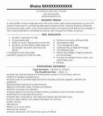 Resume Legal Secretary Best Of Sample Resume Legal Assistant ...