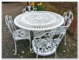 White Iron Patio Furniture Mesmerizing White Wrought Iron Patio