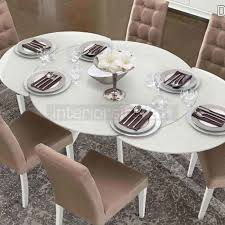 glass dining table dama bianca now on regarding modern residence white glass round dining table plan