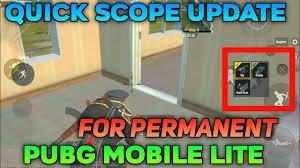 Pubg Mobile Lite Quick Scope Update ...