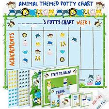 Potty Training Chart For Toddlers Fun Animal Design