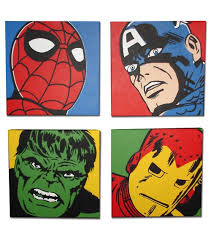 marvel hulk spider man ironman wall art set of 4