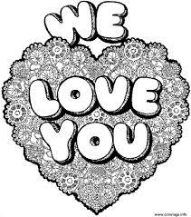 Coloriage A Imprimer Coeur Love L