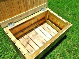 pool storage box bench large outdoor storage box diy