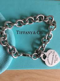 tiffany co return to new york heart tag charm bracelet 925 silver 7 5