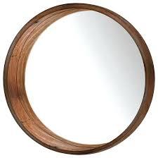 wood round mirror round wall mirror brown rustic wall mirrors wood frame bathroom mirror diy wood round mirror