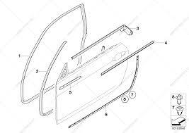 Bmw 3 series bmw z4 parts diagrams trim and seals for door
