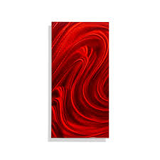 quick view on red metal art wall decor with red mirage solo red metal wall art single panel wall d cor by