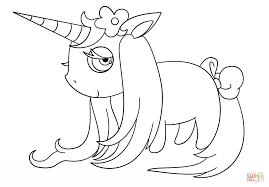 Disegno Di Unicorno Chibi Da Colorare Disegni Da Colorare E