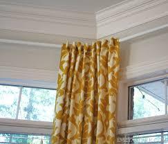 hanging curtains on angled windows diy bay window curtainshow