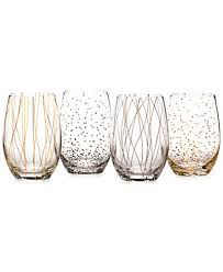fine dining glasses. mikasa cheers party stemless wine glasses, set of 4 - a macy\u0027s exclusive fine dining glasses
