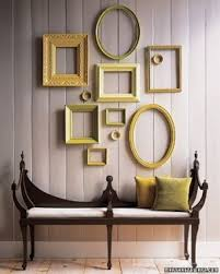 wall art using empty picture frames