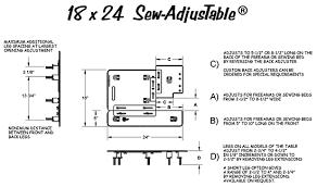 Sewing Machine Measurements