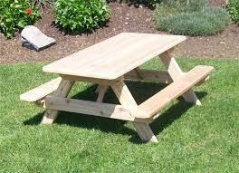 image of kids bench table cedar