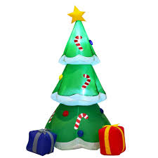 Inflatable Christmas Tree With Lights Amazon Com Inflatable Decoration Christmas Tree With Gift