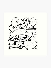 Art Doodle Kawaii Doodle Art Print