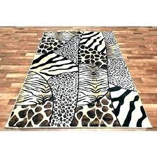 zebra print area rug round animal rugs cheetah