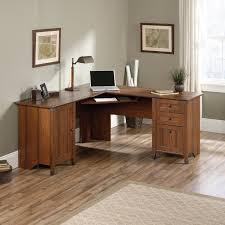 Corner Natural Pine Wood Computer Desk ...  F