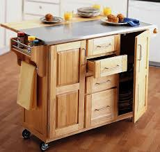 For Small Kitchen Islands Rustic Rolling Kitchen Island With Stainless Steel Top For