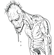scary coloring pages scary zombie coloring pages scary pumpkin faces coloring pages