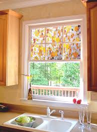 Decorations:Glass Window Film With Decorative Patterned Graphic On Long  Glass Wall Modern Stained Glass