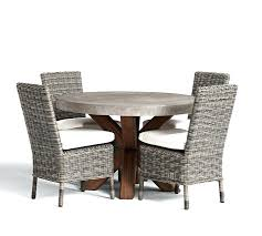 round dining room sets for 4 tables 42 zinc top fixed table chair set
