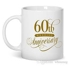60th wedding anniversary diamond gifts wedding anniversary gifts 11 oz coffee mug cup made of white ceramic is perfect gift idea y coffee mugs gl