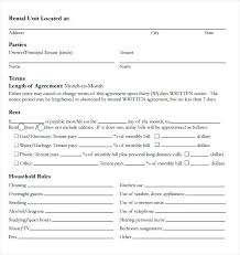 Room Rental Contract Month To Room Rental Agreement Template Free Doc Bedroom