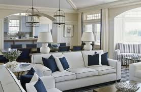 ... Blue: Impressive Blue And White Living Room Decorating Ideas With  Goodly Navy Blue Pertaining To