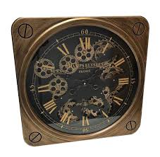 mechanical wall clocks with moving