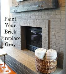 image of best painting brick fireplace pictures